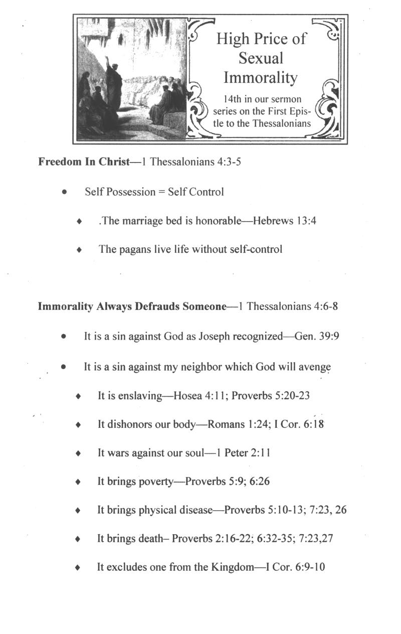 CEFC On The First Epistle to the Thessalonians Sermons Page
