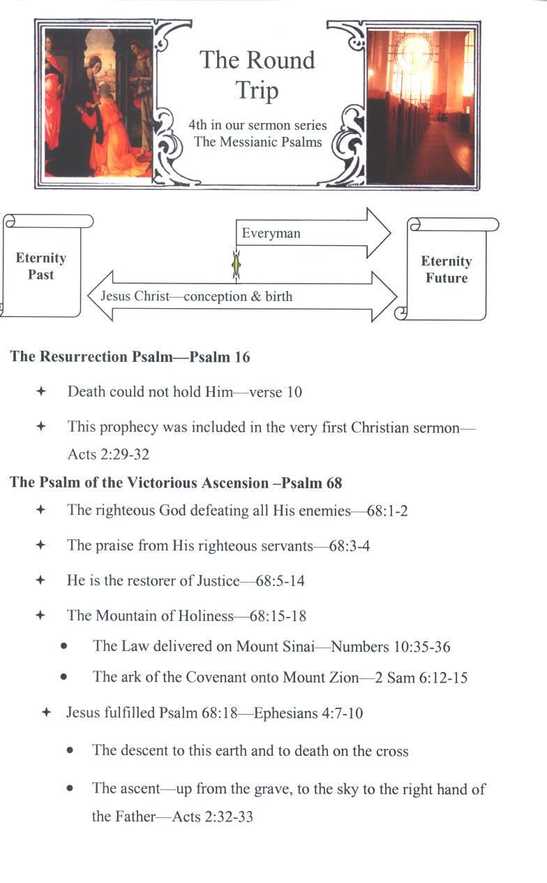CEFC The Messianic Psalms Sermons Page
