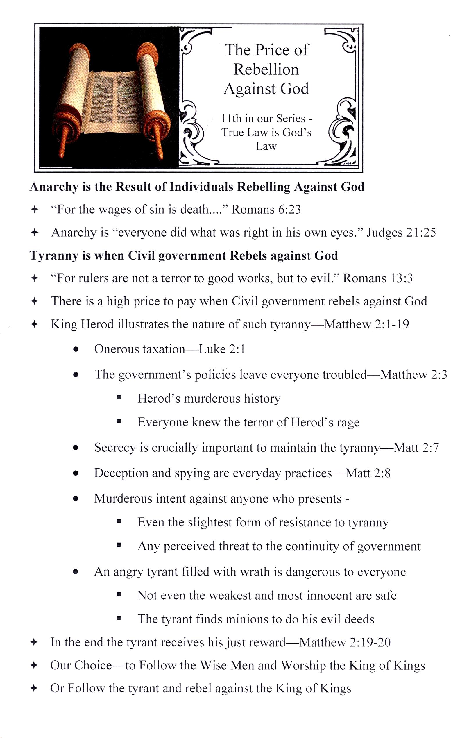 CEFC True Law is God's Law