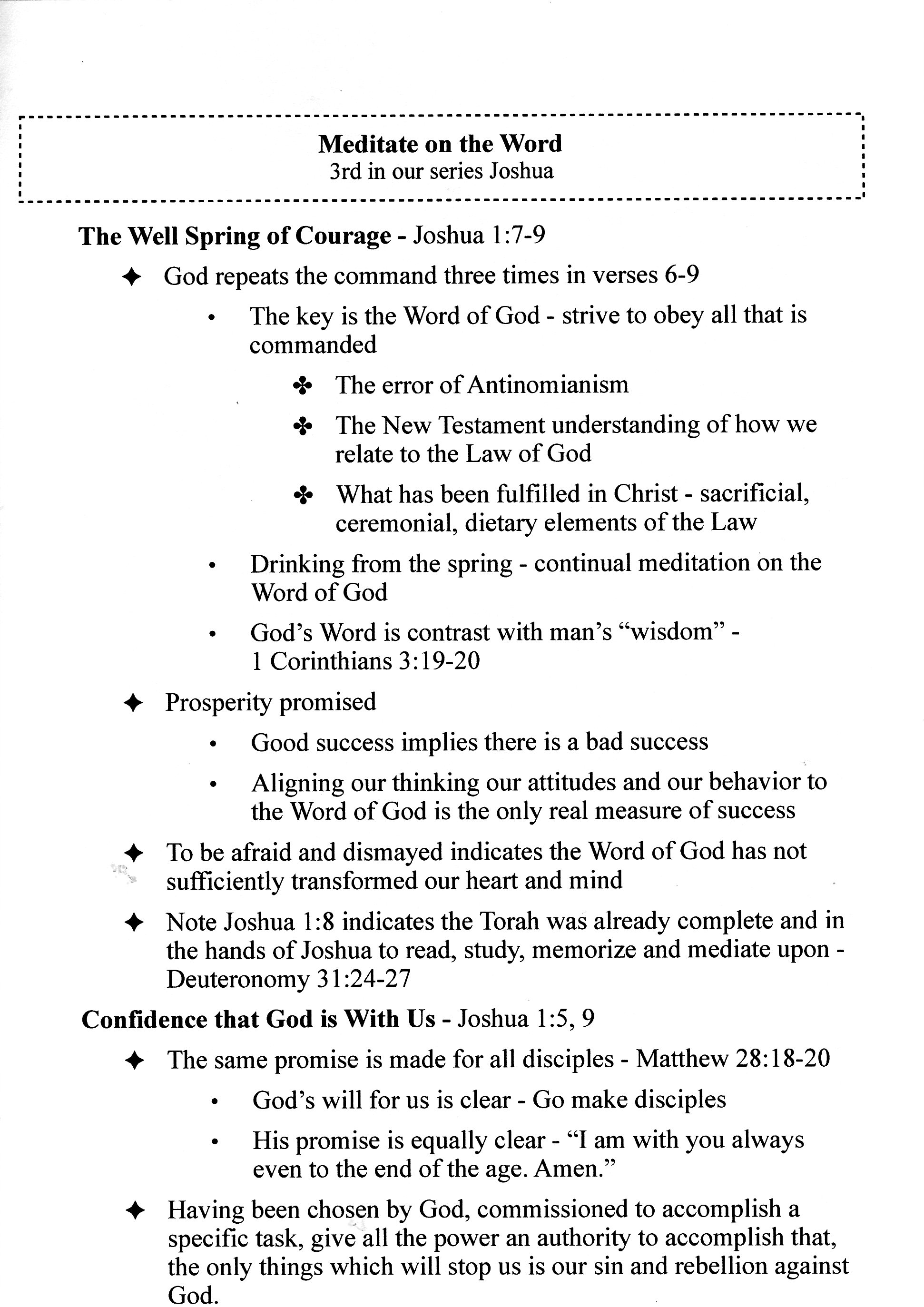 sermon series outlines